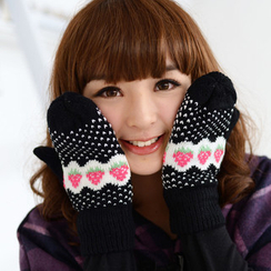 59 Seconds - Strawberry Pattern Mittens