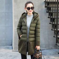 Romantica - Fleece Panel Padded Coat