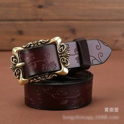 LONGMA - Buckled Genuine Leather Belt