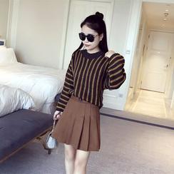 TIMI - Striped Chunky Knit Sweater