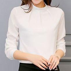 Q.C.T - 纯色雪纺衬衫