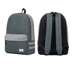Mr.ace Homme - Contrast-Trim Denim Backpack