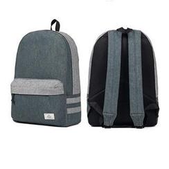 Mr.ace Homme - Contrast-Trim Denim Backpack