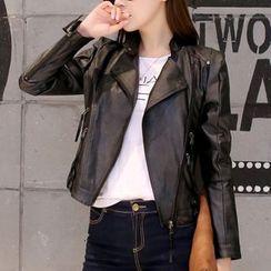 Cobogarden - Faux Leather Biker Jacket