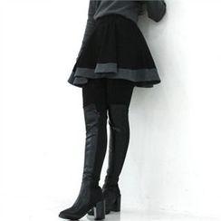 GLAM12 - Inset A-Line Skirt Lenggings