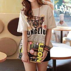 CLICK - Tiger Print T-Shirt