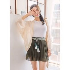 J-ANN - Pleated Skort with Sash