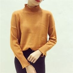 Octavia - Plain High Neck Sweater