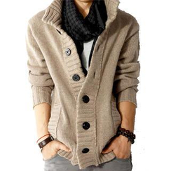 Lost Impression - Button-Down Knit Jacket