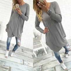 Rebecca - Plain Long-Sleeve Dress