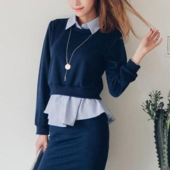 Jolly Club - Set: Inset Shirt Pullover + Skirt
