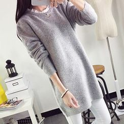 FR - Frill Neck Long Sweater
