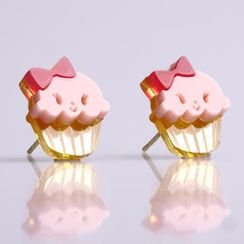 Sweet & Co. - Miss Cupcake Strawberry Stud Gold Earrings