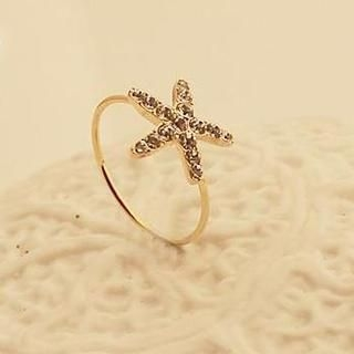 Love Generation - Rhinestone Starfish Ring