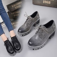 Limone - Block Heel Oxfords