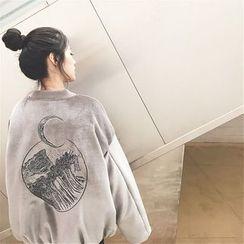 Alfie - Embroidered Loose-Fit Velvet Jacket