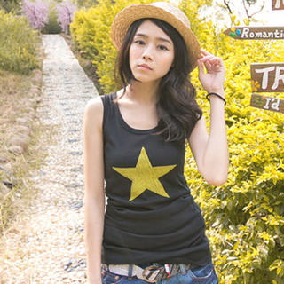 CatWorld - Rhinestone Star Tank Top