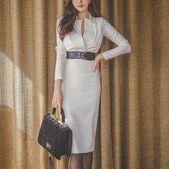 Aurora - Belted Sheath Dress