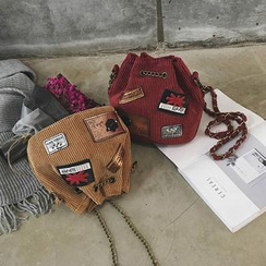 LINGLAN - Patch Bucket Bag