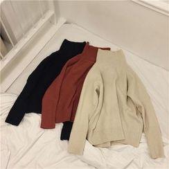 QZ Lady - Plain Turtleneck Sweater