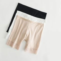 LA SHOP - Lace Trim Under Shorts