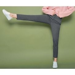 HOTPING - Band-Waist Dress Pants