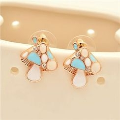 Best Jewellery - Rhinestone Mushroom Earrings