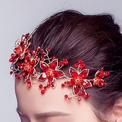 Suaylla - Bridal Headband / Set: Bridal Headband + Earrings