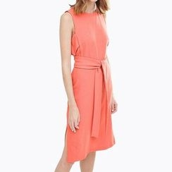 Obel - Tie-Waist Sleeveless Dress