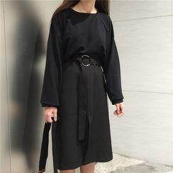 Dasim - Long-Sleeve A-line Midi Skirt