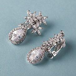 Suaylla - Rhinestone Bridal Drop Earrings
