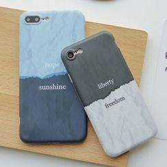 Casei Colour - Lettering Two-Tone Mobile Phone Case - Apple iPhone 7 / 7 Plus