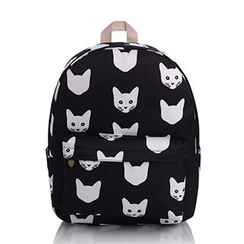 YUNA - Cat Print Canvas Backpack