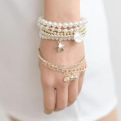 SO Central - Set of 6: Faux-Pearl Bracelet