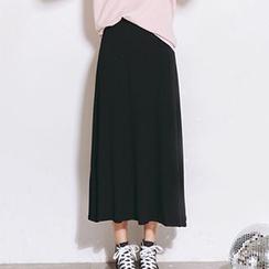Nanta - Elastic Waist Midi Skirt