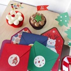 OH.LEELY - 套裝: 聖誕卡 + 貼紙 + 旗子