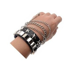 Trend Cool - Set of 2: Studded Wide Bracelet