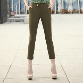 O.SA - Cuffed Cropped Skinny Pants