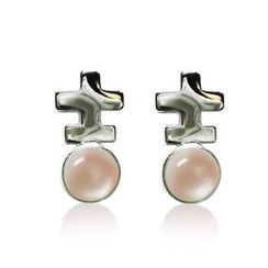 ZN Concept - Mother of Pearl - Pink Earrings