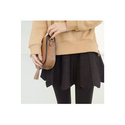 CHERRYKOKO - Scallop-Hem Paneled A-Line Mini Skirt