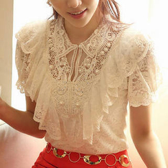 JVL - Ruffled Lace Top