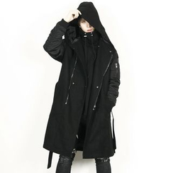 Remember Click - Wool-Blend Hoodie Coat