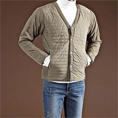 THE COVER - V-Neck Snap-Button Jacket