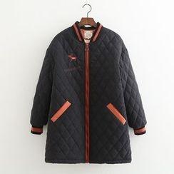Vateddy - Quilted Zip Coat