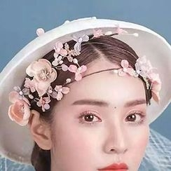 Ashmi - Bridal Flower Headband