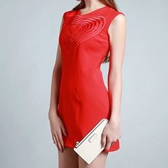 Tal.lu.lah - Sleeveless Heart Embroidered Dress