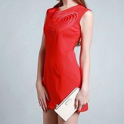 Tal.lu.lah - Sleeveless Heart Embroidered Dress
