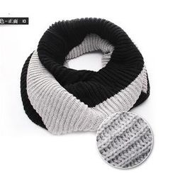 Nirvana Nation - Contrast-Color Knit Circle Scarf