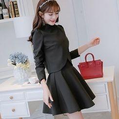 Bornite - 套裝: 無袖A字連衣裙 + 西裝外套