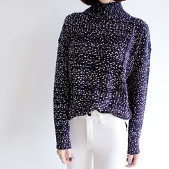 WITH IPUN - High-Neck Knit Sweater
